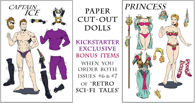Paper Dolls - Captain Ice and The Princess