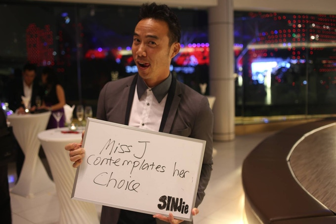 We went on the ground to cover the 2014 Singapore International Film Festival. Allan Wu was such a good sport!