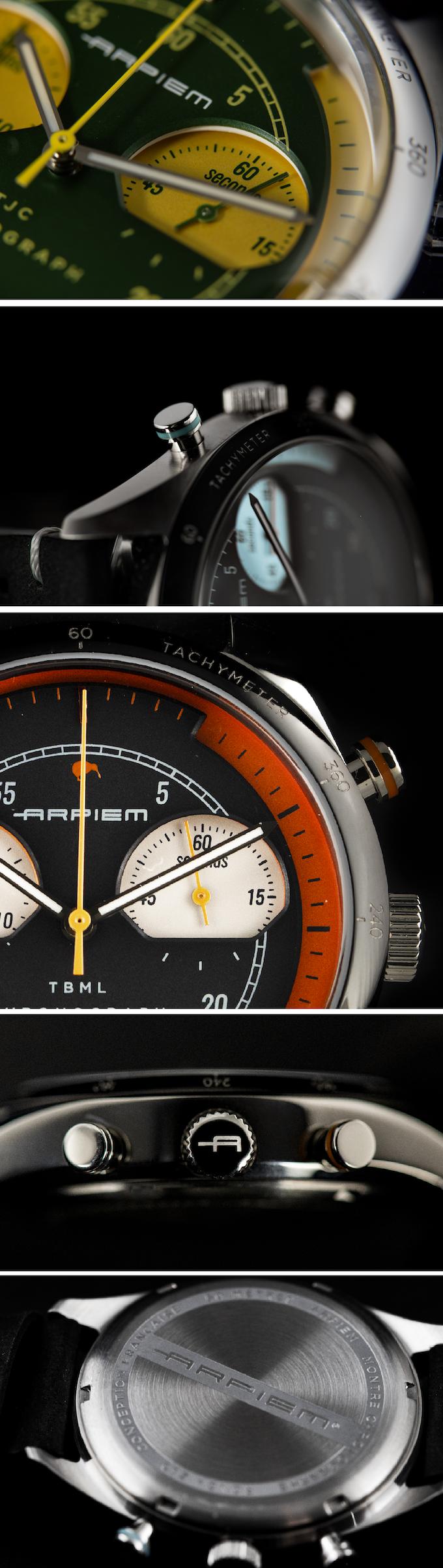 Arpiem Tribute A True Vintage Racing Chronograph Watch By Vincent