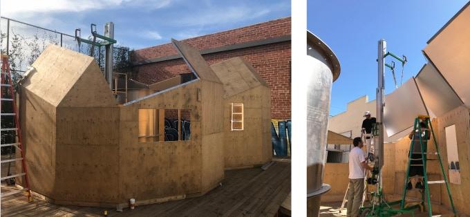 Zome Alloy under construction, 2017, Los Angeles, CA