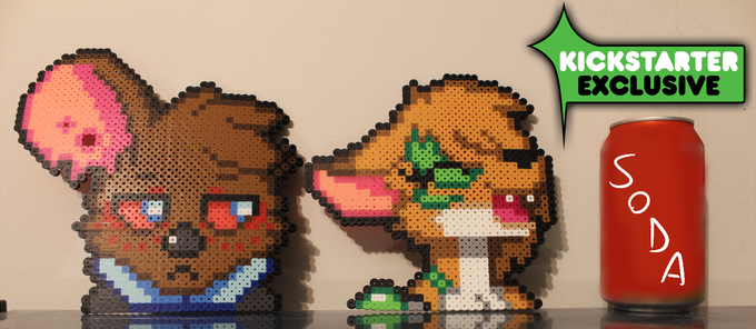 The perlers will be put in between two cardboards and bubblewrapped to avoid any shattering that may occur.