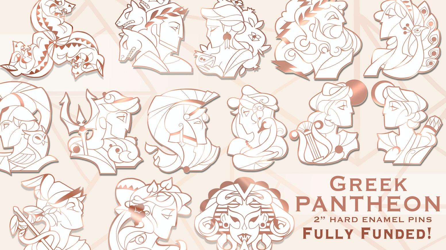 Greek Pantheon Hard Enamel pins by Triangle Art — Kickstarter