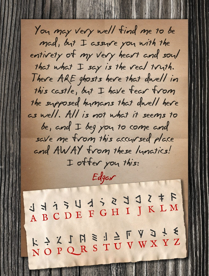 Edgar's letter urgently pleading for help!