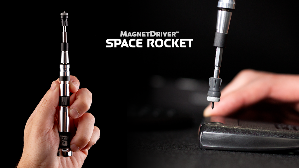 Magnet Driver™ Space Rocket: a huge upgrade for tiny screws