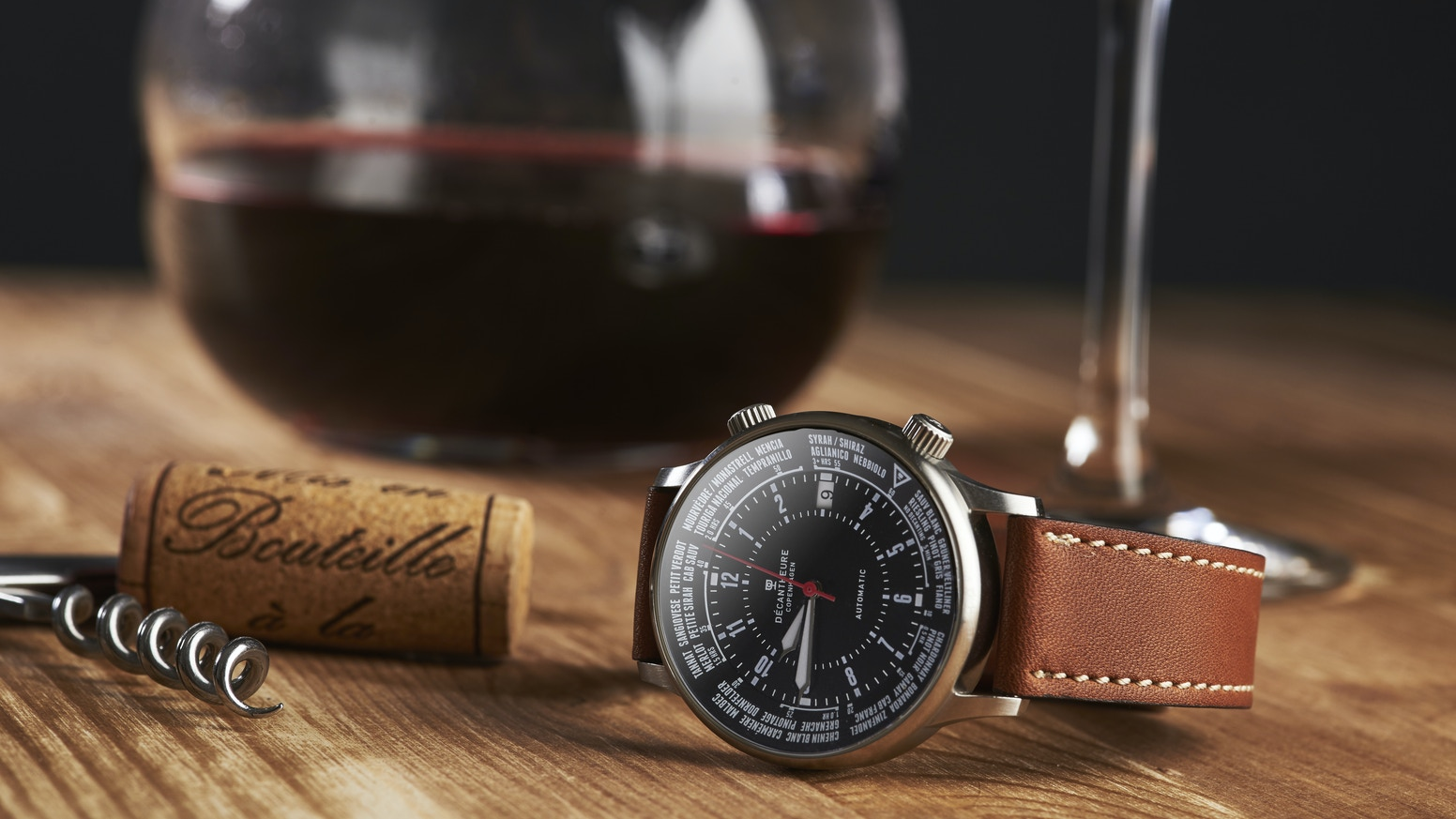 The art of decanting wine just got easier with Décantheure: An ultra-niche automatic watch for passionate wine/watch lovers