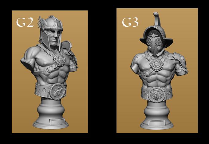 Alternative gladiator sculpts