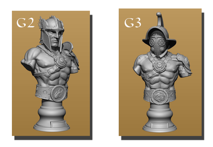 Alternative gladiator sculpts