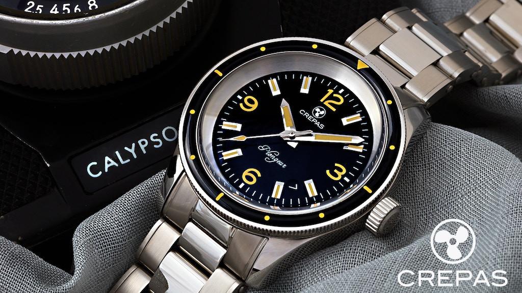 CREPAS Plongeur Extreme Dive Watch with ETA 2824-2 Elaboré project video thumbnail