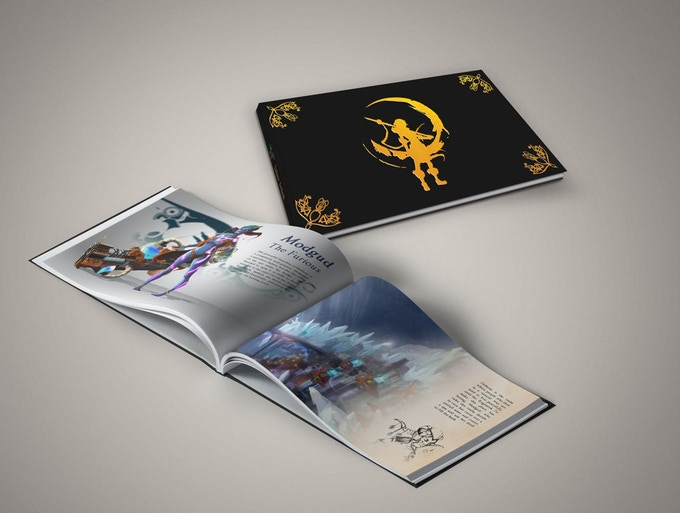 Printed deluxe artbook (50 pages)