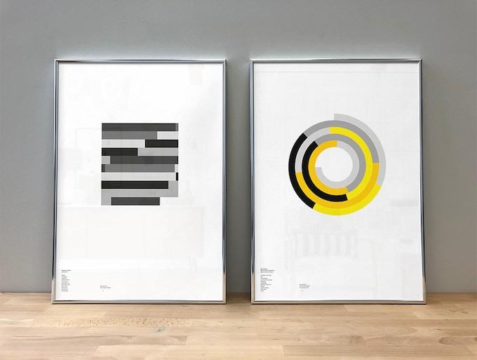 'Mezzanine' by Massive Attack (A2, Mono, Block) and 'Never Mind the Bollocks' by Sex Pistols (A2, Wasp, Spiral)