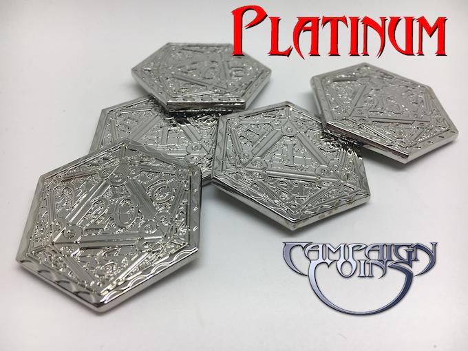 Epic D20 Coins in Platinum
