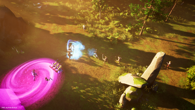 The isometric camera gives you a strategic view of the battle
