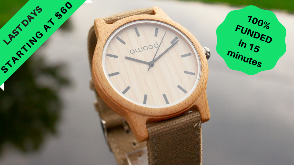 owood: 100% Natural Minimalist & Eco-friendly Wood Watches project video thumbnail
