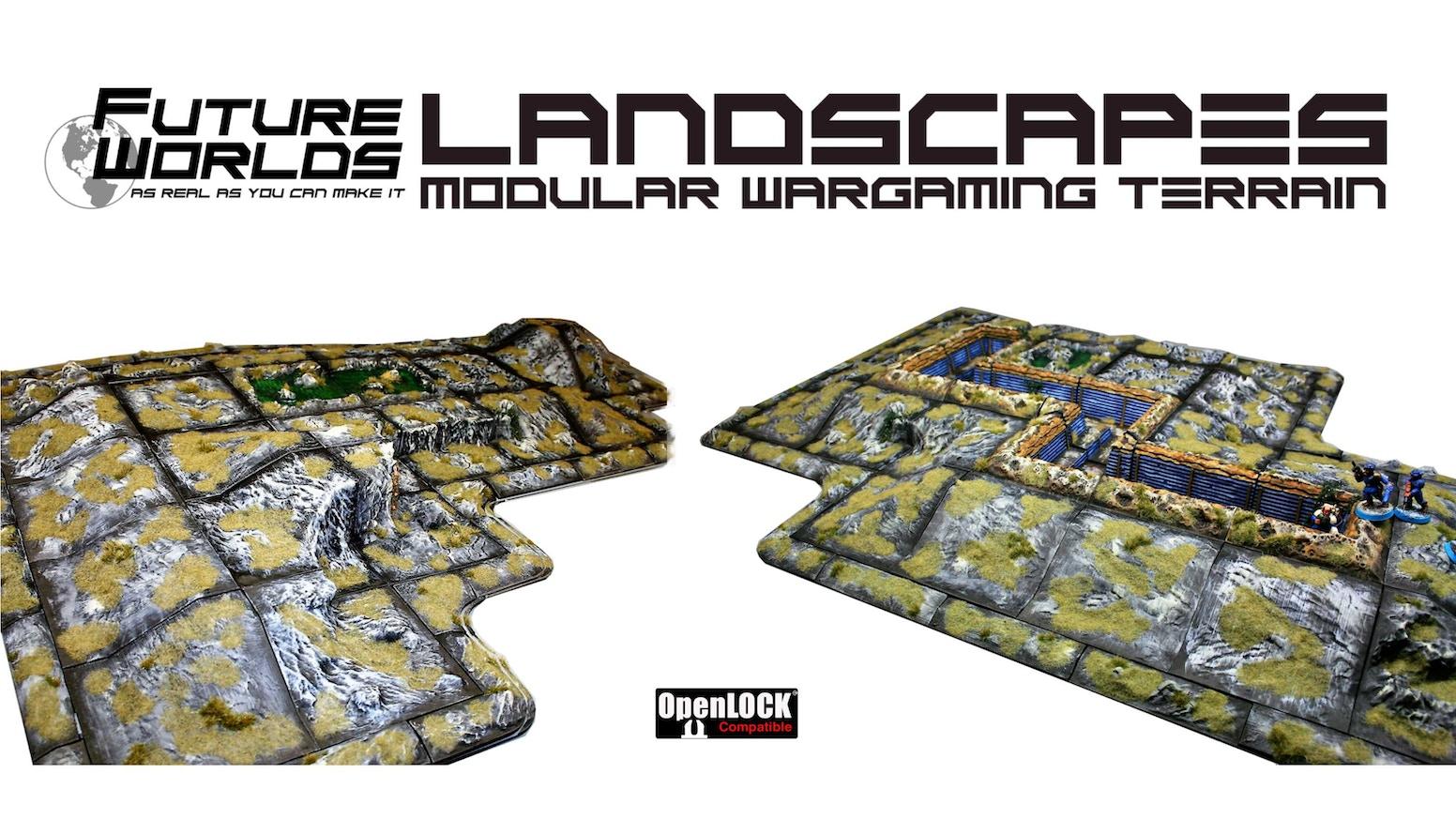 Future Worlds: Landscapes - modular war game terrain by Nick Fatchen