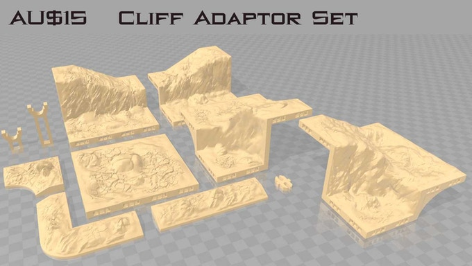 "This set requires the 1"" and 2"" Cliff Sets"
