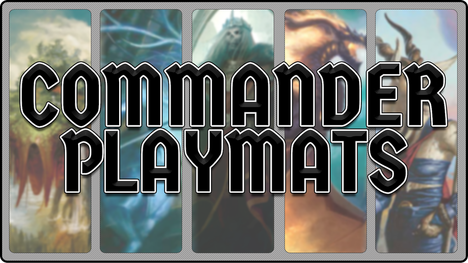 Officially Licensed Magic: the Gathering Playmats for some of the most popular Commanders in the game.