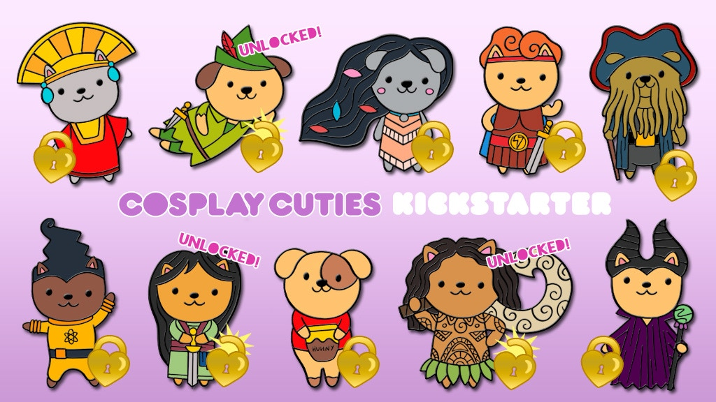 COSPLAY CUTIES // Enamel Pins by Magical Thunder Press