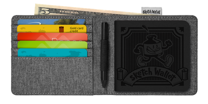 Here's the layout for the medium Sketch Wallet