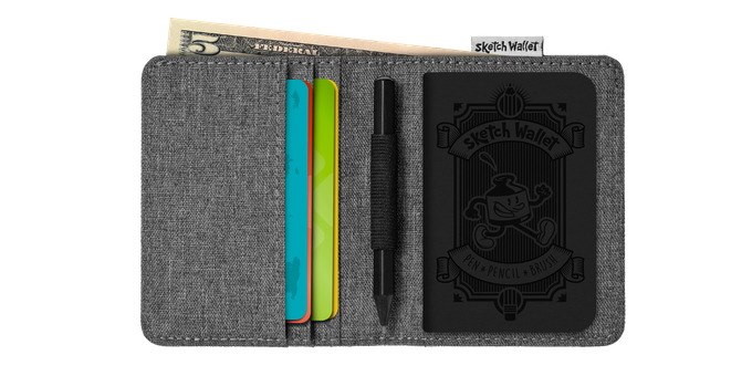 Here's the layout for the small Sketch Wallet