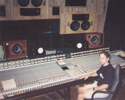 Vince working at The Record Plant where he first started dreaming about a circuit that plays back sampled audio.