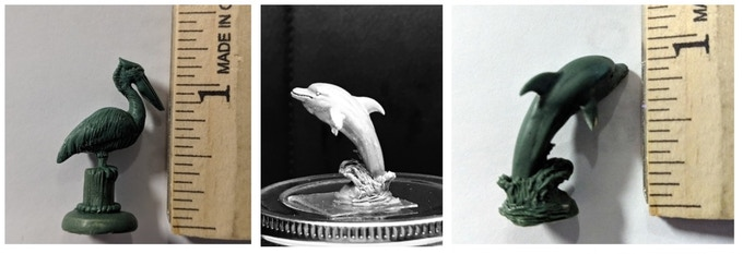 You get one pelican and one dolphin unpainted in this stretch goal!