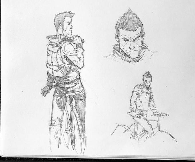 Olaf Larson (Hacker Storyline) concept sketch by Manuel Martinez