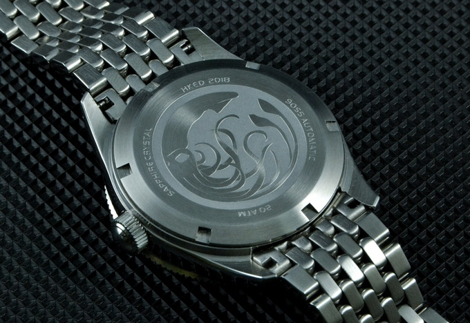 GIANT SQUID CASEBACK - PRODUCTION PIECES WILL BE STAMPED, NOT ETCHED