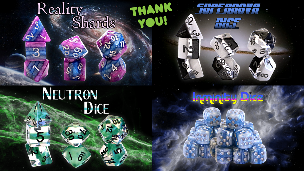Reality Shards, Supernova Dice, & Neutron RPG Dice Sets project video thumbnail