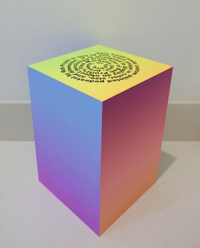 one person's trash is another person's treasure, Rob Pruitt, 2016. Acrylic and enamel on wood, Dimensions variable