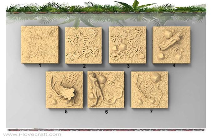 Flat Jungle Tiles