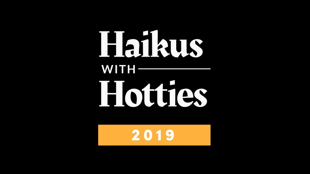 2019 Haikus With Hotties Calendar project video thumbnail