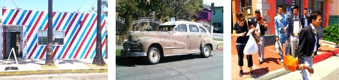 Barbershop…/Old Car.../Mariachis at Fiesta…, Mario Ybarra Jr., 2014. Archival matte photograph 20 x 30 in. (50.8 x 76.2 cm.) Edition of 5, 1 AP
