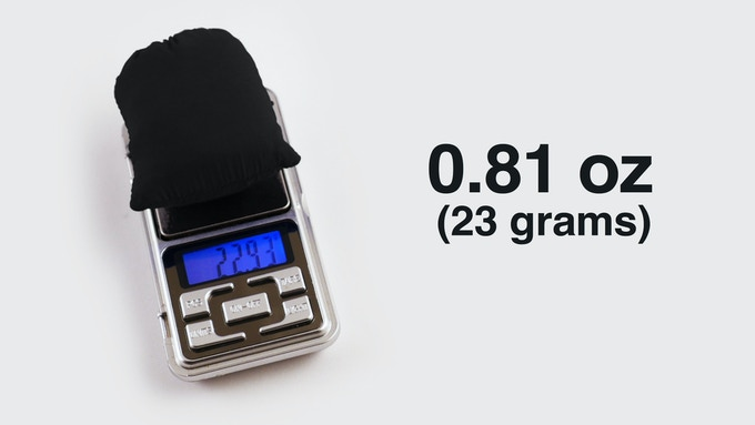 The Nanopack weighs only .81 oz (23 g).