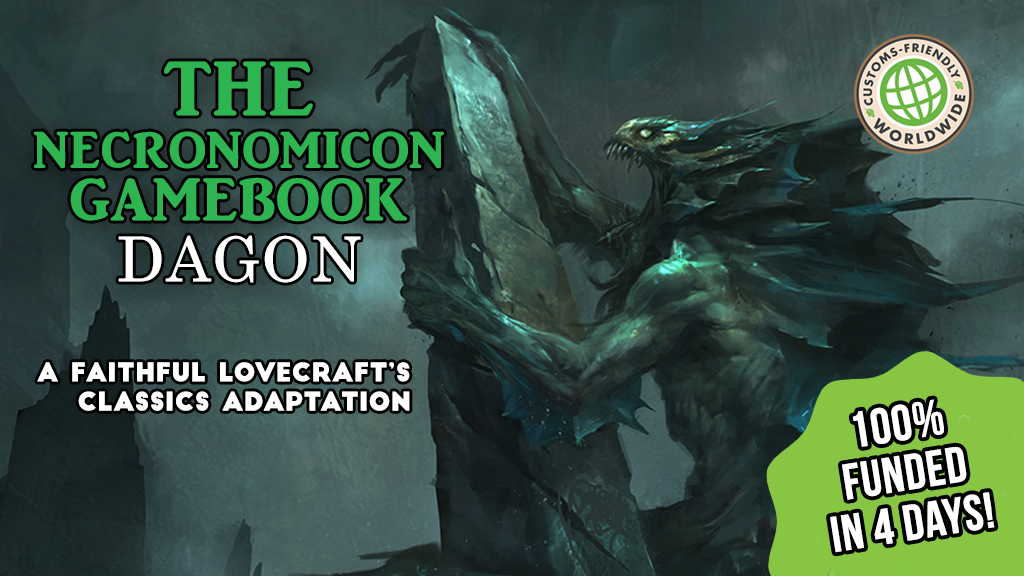 THE NECRONOMICON GAMEBOOK: DAGON - an illustrated adventure project video thumbnail