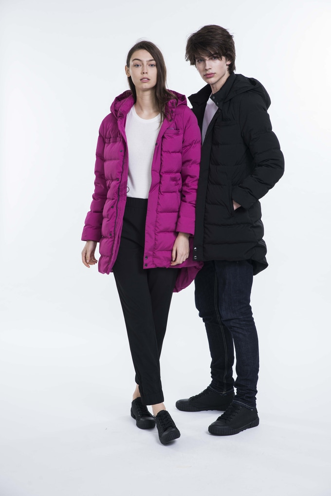 99% Permanent Germs Killing Anti-Bacteria Unisex Down Coat - Female model (178cm) wears size 1 - Male model (185cm) wears size 2