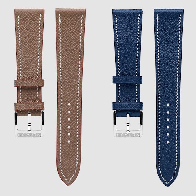 Textured Taupe (gauche) & Textured Marine Blue (droite)