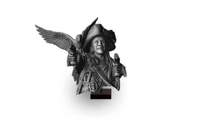 Compass Captain' Mad Brother (Realm of Midgard) Bust