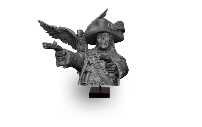 Compass Captain' Mad Brother (Realm of Heimr) Bust