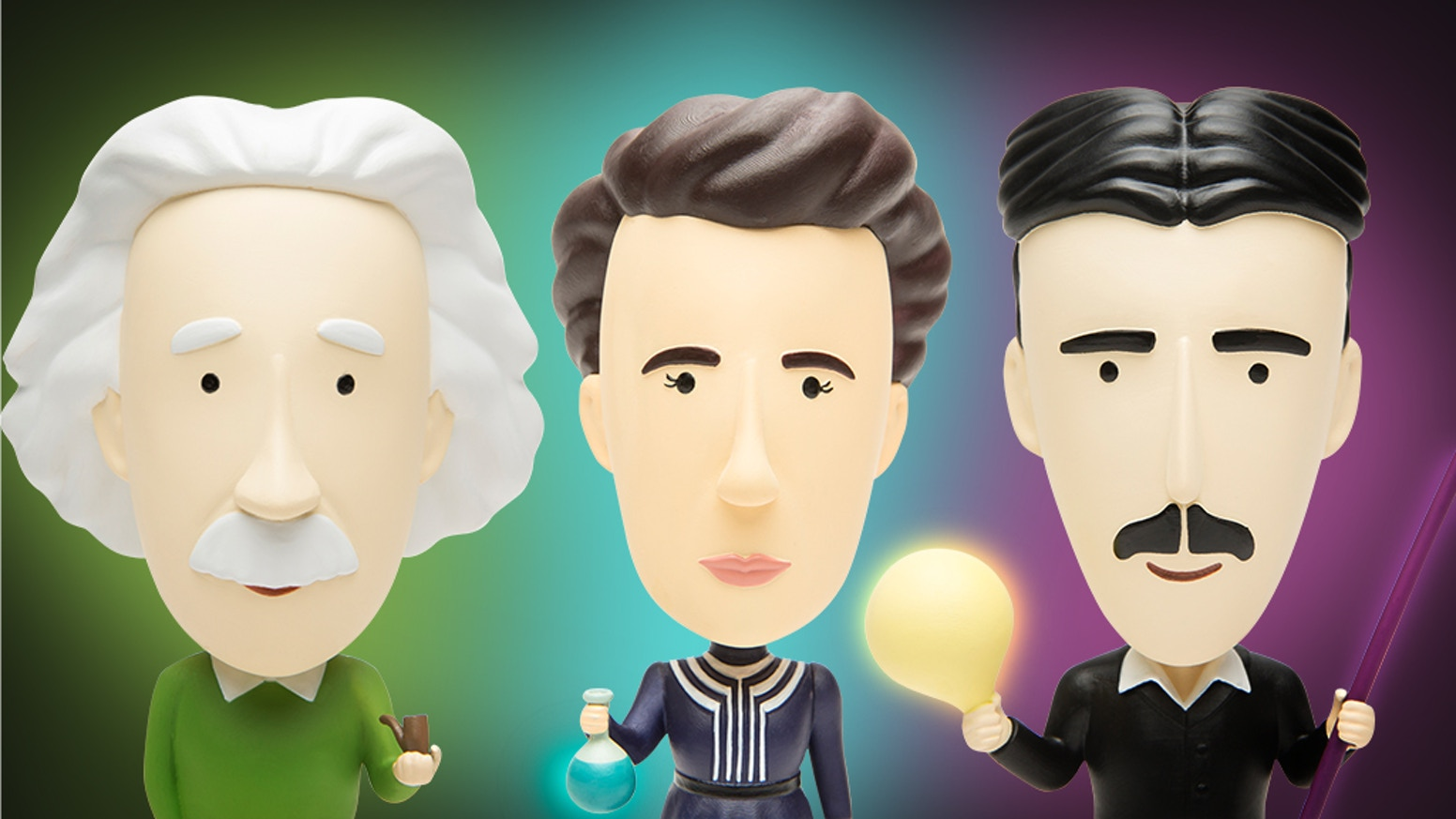 Introducing a new line of charming and inspiring historical figurines, including a free Augmented Reality app!