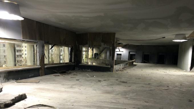 Abandoned hospital floor.
