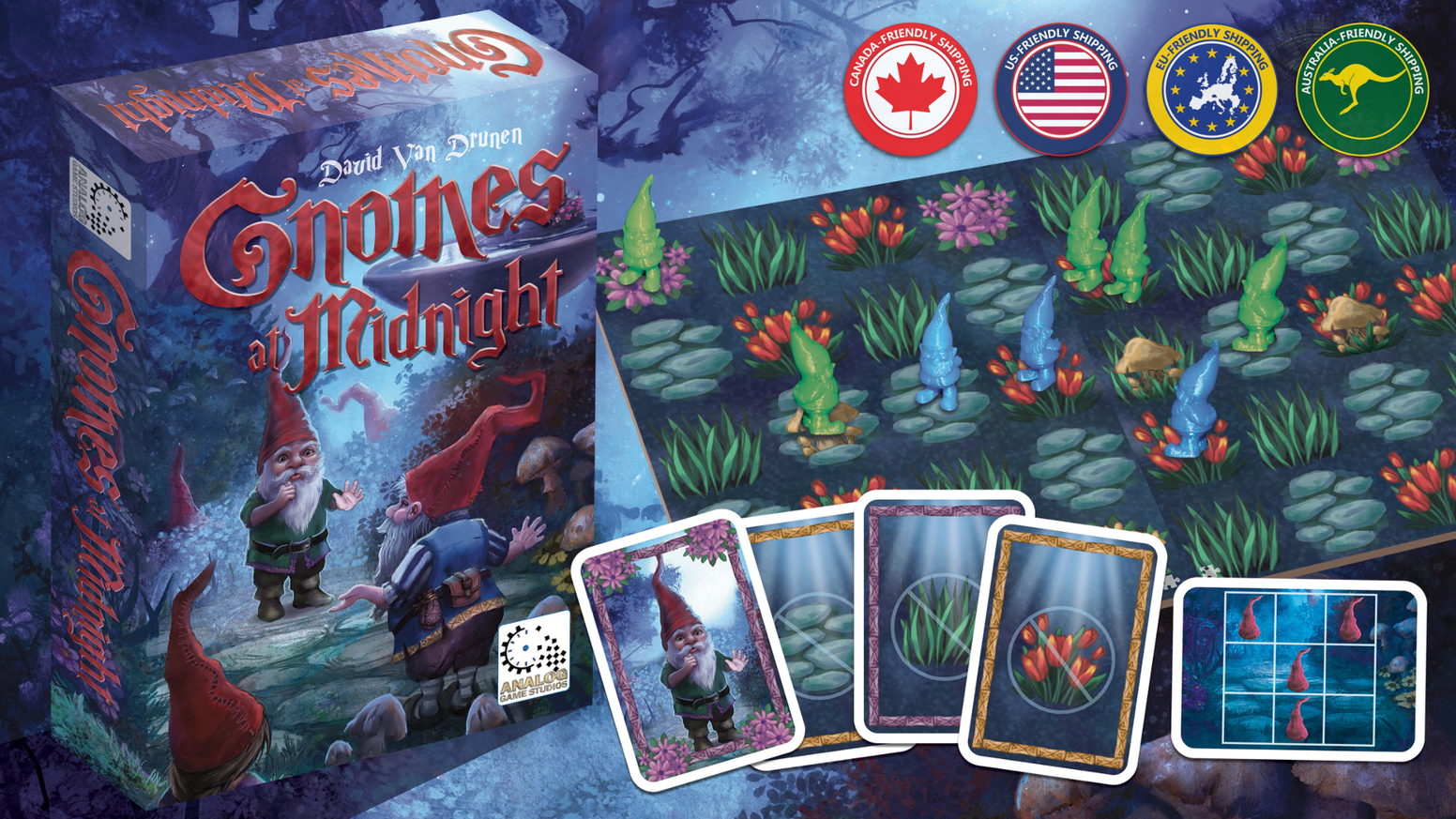 "IF YOU MISSED this super-fun 2-player board game, you can click the ""ORDER HERE"" link below to buy 'Gnomes at Midnight' online and have it shipped to you in North America."
