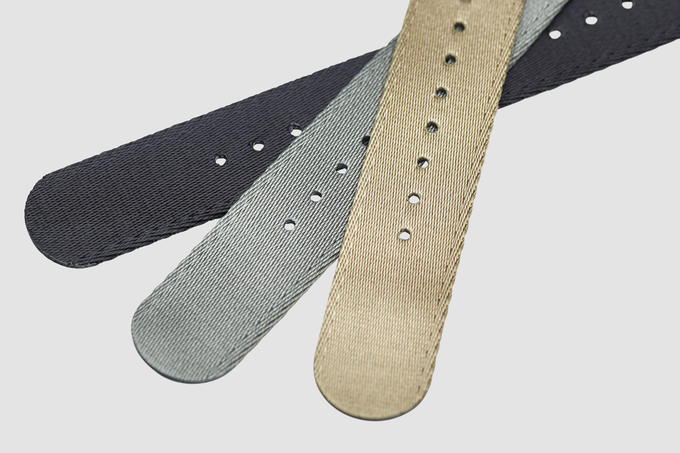 Fabric of the nato strap. Only 1.2mm thick, amazingly comfortable.