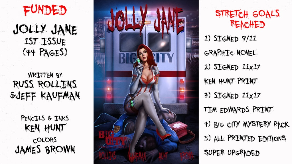 Jolly Jane #1 Comic Book by Russ Rollins and Jeff Kaufman. project video thumbnail