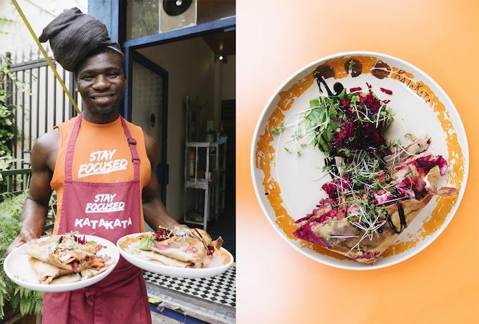 Evagle Francklin owner/chef @ Kata Kata & Maloko, S. London [Cameroonian]