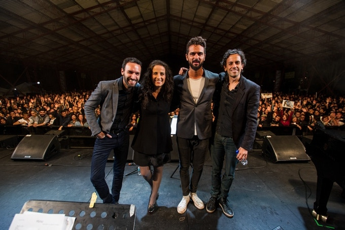 """Performing at """"Jazz al Parque"""" (Bogotá, Colombia) for 10.000 people (Concha Buika was the headliner)"""