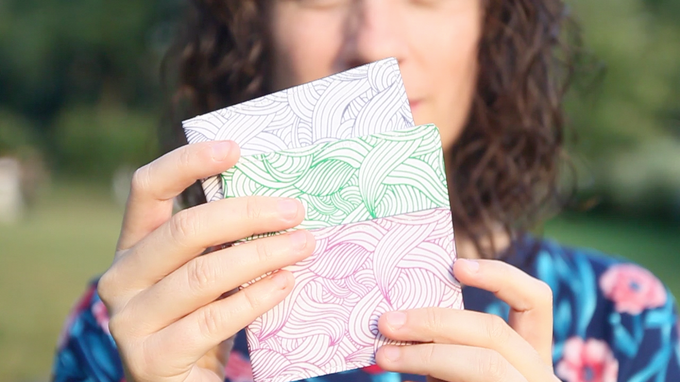 """The card wallet """"Mar Sonoro"""", designed by Silvia Ospina"""
