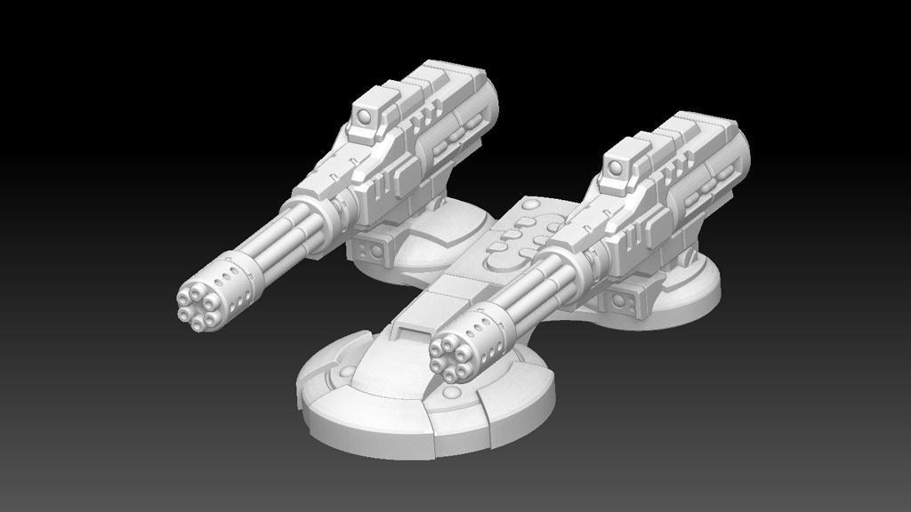 Sci-Fi Tank Turrets