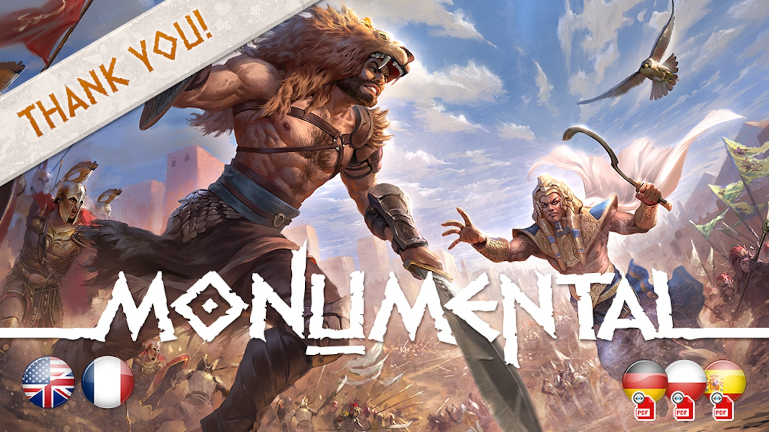 Monumental is the next generation civilization game with a mix of innovative mechanics taking the best from deckbuilding and 4X games.
