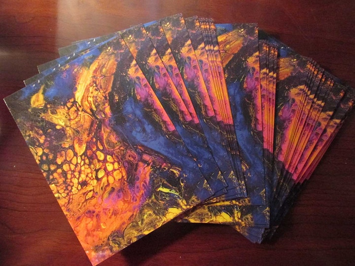 Postcards of Sandy Coomer's Phoenix Rising, from Volume 4, Issue 1