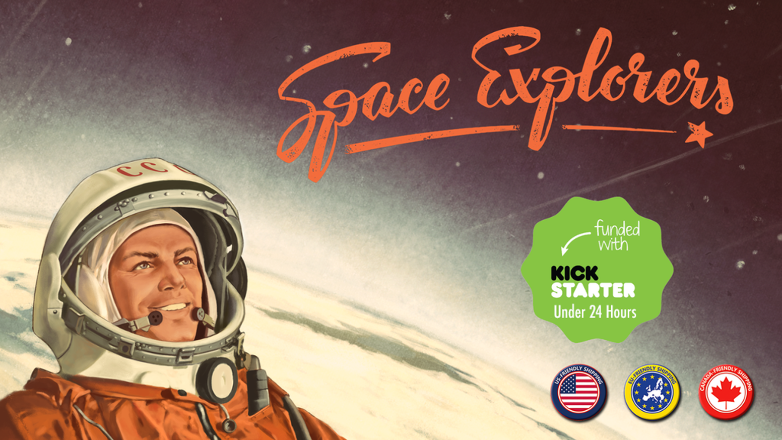 Build your team of specialists and launch historic spacecrafts into orbit! A retro themed space race game for 2-4 players.